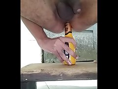 pain in the neck fucked by bottle