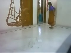 #NaziaPathan Indian arab housewife casually naked handy home - part 2/4