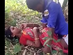 Indian mom sex with her step son in open fields
