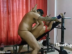 Indian Sexual intercourse In A Gym With Young Desi Couple