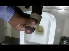 Oversexed indian gay boy masturbating in situation toilet in Bangalore