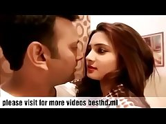 Hot Indian girl kissing his girlfriend with an increment of lady-love hardcone